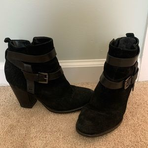 Ivanka Trump suede and leather bootie